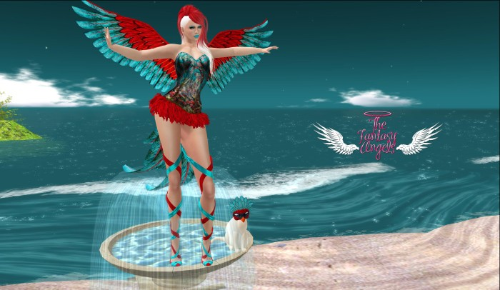 GHEE - EXOTIC BIRDIE for The Fantasy Angels event – by PetraLAlexander©™