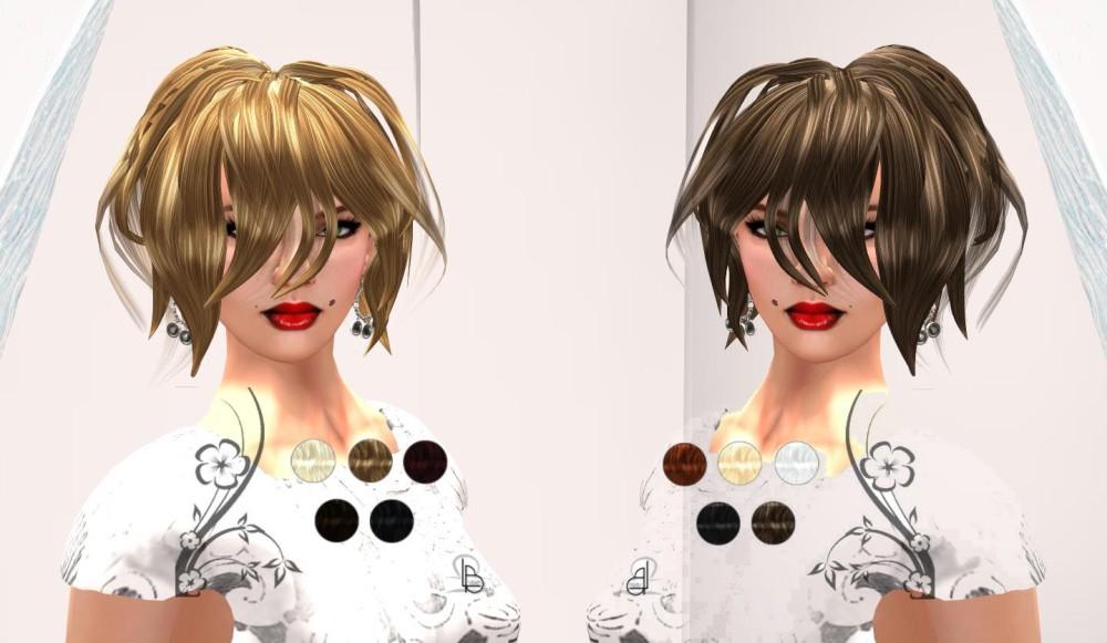 LYBRA B. HAIR #1 in Basic Dark and Basic Light for On9 – by PetraLAlexander©™